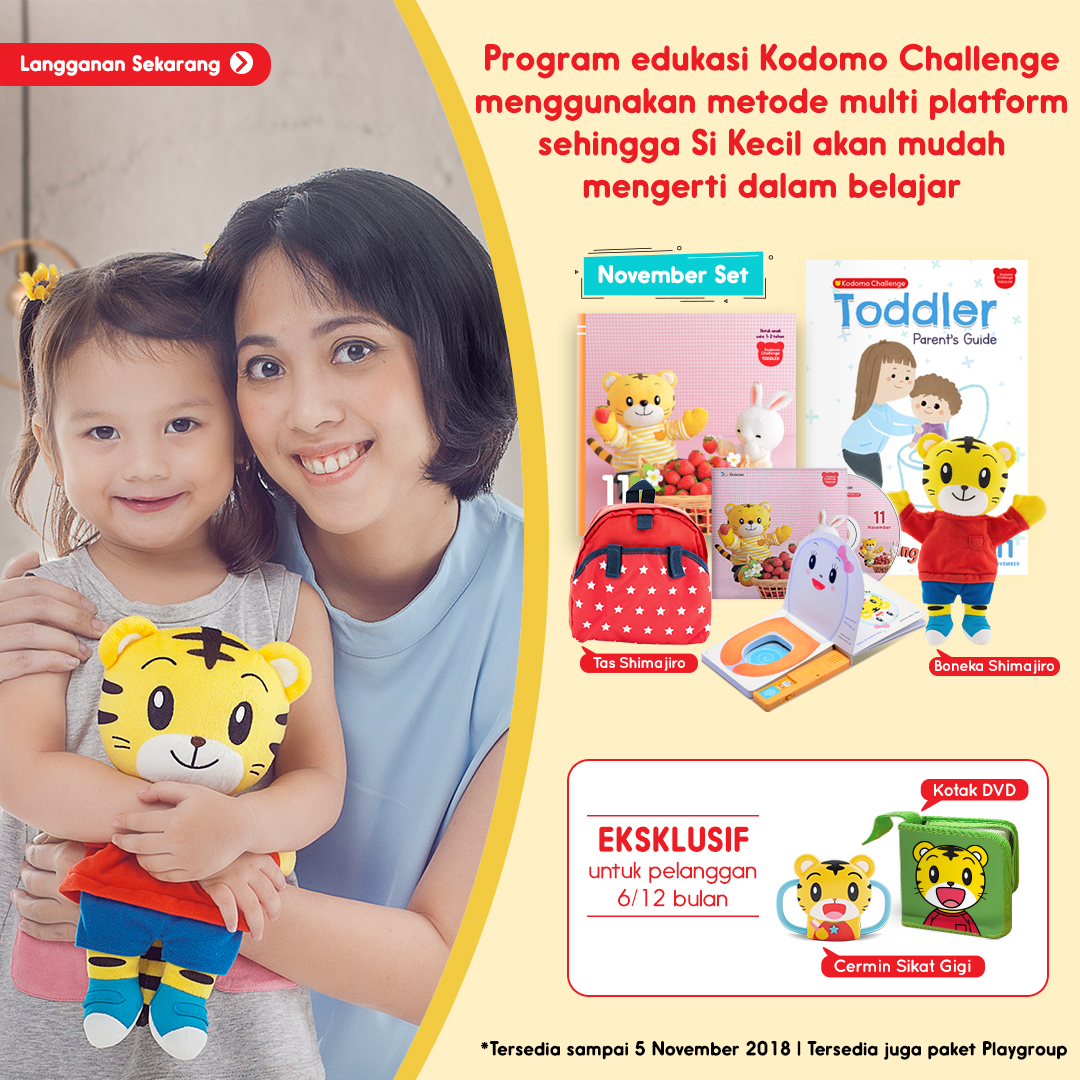 Program edukasi Kodomo Challenge Multi Platform Mobile Version